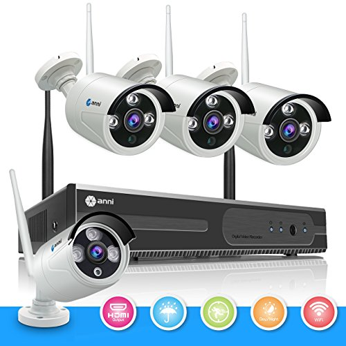 Intercom Module (anni Wireless Security Camera System , 4CH 720P HDMI NVR and (4) 1.0MP Megapixel Wireless Cameras Indoor Outdoor Bullet IP Cameras, P2P, 100ft Night Vision, NO HDD)
