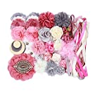 Small Headband Making Kit - Makes 12 to 16 Headbands - Dusty Rose Silver