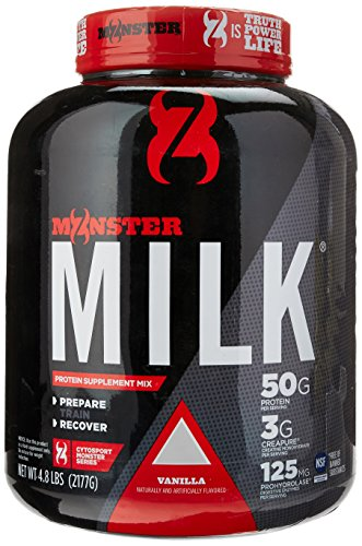 Cytosport Monster Milk Nutritional Drink, Powder Protein Supplement Mix, Vanilla Flavored, 4.8 (Flavored Vanilla Body Powder)