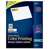 "8257 Avery Mailing Label - 0.75"" Width x 2.25"" Length - 600 / Pack - Rectangle - Inkjet - White"