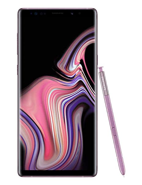 Samsung Galaxy Note9 Factory Unlocked Phone with 6 4in Screen and 128GB (US  Warranty), Lavender Purple (Renewed)