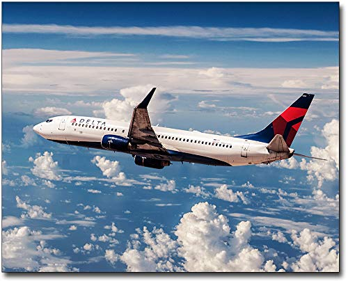Delta Airlines Boeing 737 11x14 Silver Halide Photo - 11 Delta Airlines