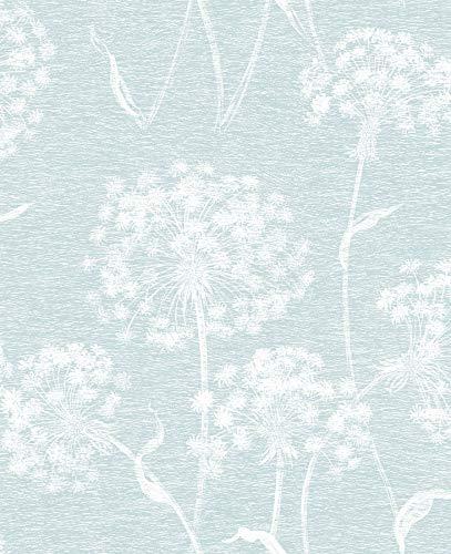 Advantage 2811-24576 Carolyn Light Blue Dandelion Wallpaper,