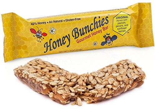 Honey Bunchies Gourmet Honey Bar, All-Natural Gluten-Free Nut Energy Breakfast Bar, - Bars Nut Be Natural