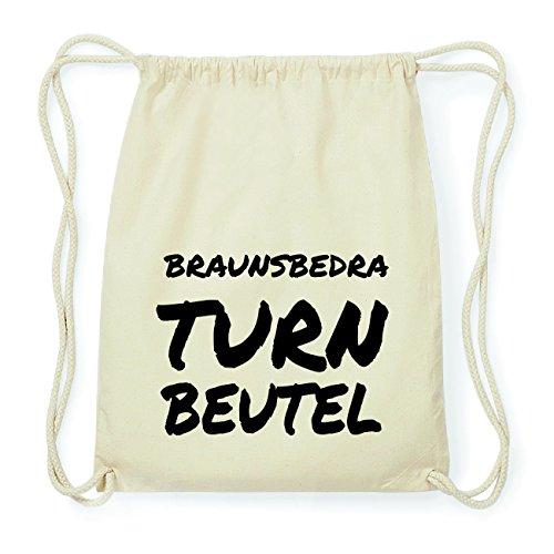 JOllify BRAUNSBEDRA Hipster Turnbeutel Tasche Rucksack aus Baumwolle - Farbe: natur Design: Turnbeutel