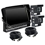 "REAR VIEW CAMERA REVERSING SYSTEM KIT9"" TFT LCD MONITOR + 2 CCD IR BACKUP CAMERAS"