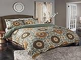 M.style Ottoman Blossom Duvet Set, Queen, Gold