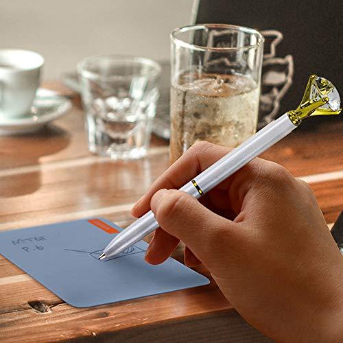 JPSOR 12 Pcs Bulk Color Diamond Ballpoint Pens Retractable Metal Crystal Pens with 12 Pcs Replacement Refills Photo #4