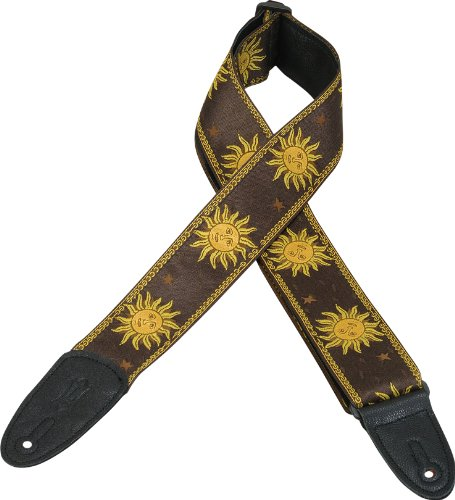Levy's Leathers MPJG-SUN-BRN Acoustic Guitar Strap