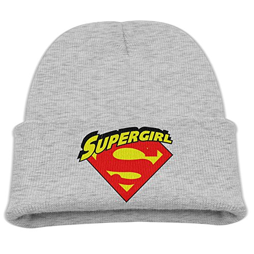 [SHEAKA Supergirl Baby's Knitted MountaineeringCap Ash For Autumn And Winter] (Clark Kent Halloween Costume Girl)