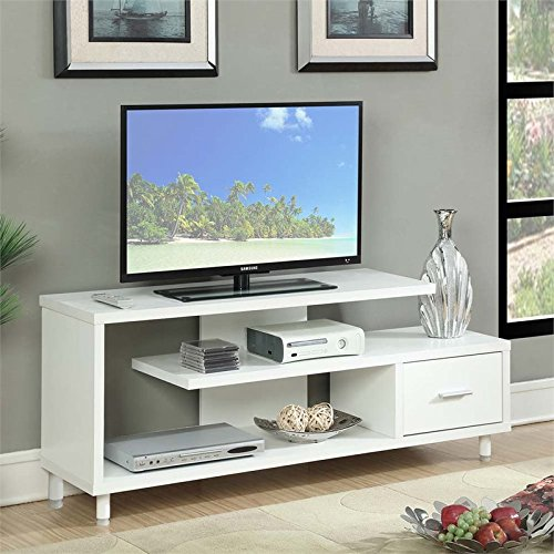 Convenience Concepts Designs2Go Seal II TV Stand, 60-Inch, White