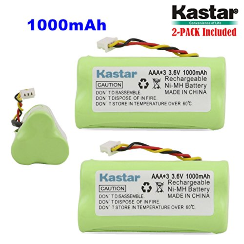 Zebra Replacement Batteries - Kastar 2-PACK AAA 3.6V 1000mAh Ni-MH Rechargeable Battery Replacement for Zebra/Motorola Symbol 82-67705-01 Symbol LS-4278 LS4278-M BTRY-LS42RAAOE-01 DS-6878 Cordless Bluetooth Laser Barcode Scanner