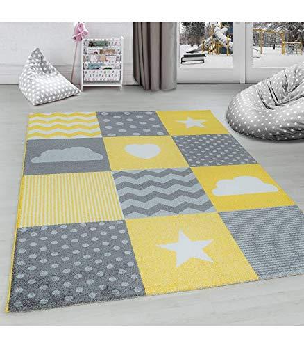 Carpettex Teppich Kinderteppich Kinderzimmer Kariert Wolken