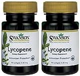 Swanson Premium Brand Lycopene 20mg -- 2 Bottles each of 60 Softgels Discount