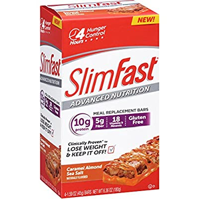 Slim Fast Advanced Nutrition Meal Replacement Bar, Caramel Almond Sea Salt