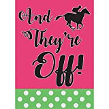 And They're Off Racer Fuschia And Polka Dot Green 30 x 44 Large House Flag