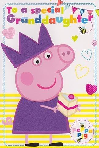Amazon.com: Peppa Pig – Tarjeta de cumpleaños para nieta ...