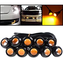 10X High Power Amber LED Eagle Eye Bumper DRL Daytime Running Backup Fog Tail Light Universal Motorcycle Car