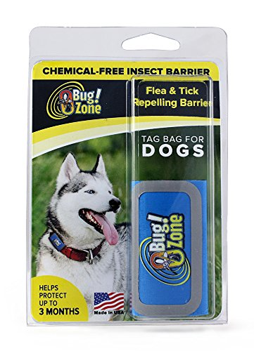 0Bug!Zone Flea and Tick Repelling Barrier Tag Bag for Dogs, Assorted Colors, Helps Protect Up to 3 Months