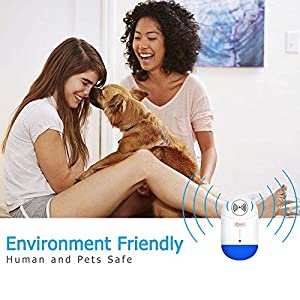 [2018 VERSION] Indoor Pest Control Ultrasonic Repeller, Insect and Rodent repellent, Electronic Pest Repeller For Mosquito, Mouse, Mice, Roach, Rat, Spider, Ant, Non-toxic, Human & Family Pet Safe