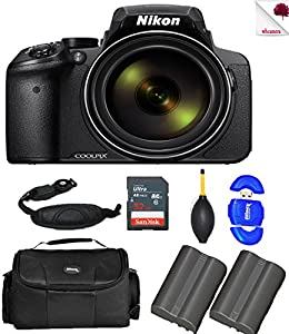 Nikon COOLPIX P900 Black Digital Camera 26499 (USA) with Full Accessory Double Bundle Package Deal