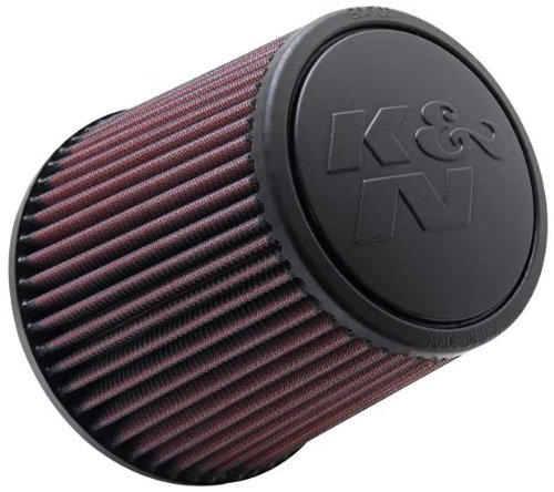 "K&N RE-0930 High Performance Universal Clamp-on Air Filter 3"" Flange 6"" Height"