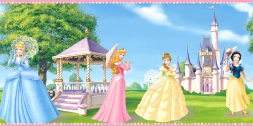 Blue Mountain Wallcoverings DF059191BFP Fantasy Princess Prepasted Wall (Fantasy Border)