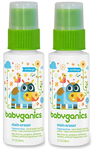 Babyganics Stain Eraser Marker, 2oz, On-The-Go (Pack of 2)