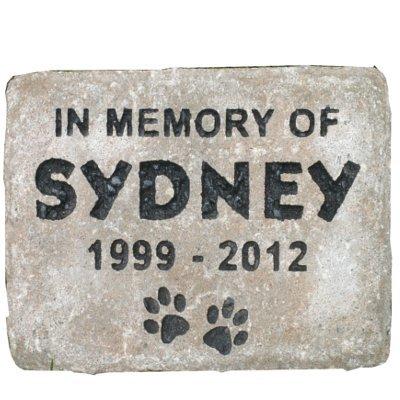 Pet memorial headstone tombstone grave marker concrete pa...