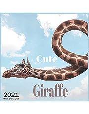 funny Giraffe: 2021 Wall & Office Calendar, 12 Month Calendar