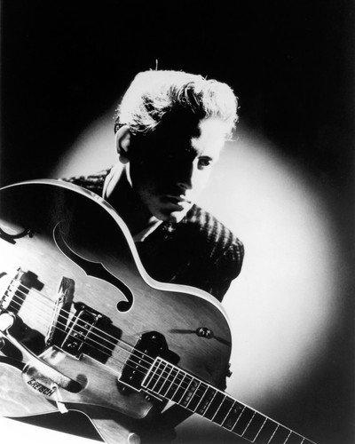 Eddie Cochran atmospheric image with guitar great lighting 8x10 Promotional Photograp