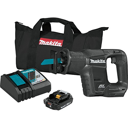 Cordless Recipro Saw Kit - Makita XRJ07R1B 18V LXT Lithium-Ion Sub-Compact Brushless Cordless Recipro Saw Kit (2.0Ah)