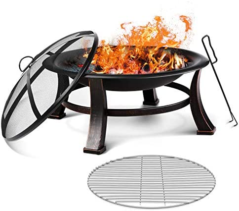 Fixkit 30'' Fire Bowl Outdoor Patio Fire Pit