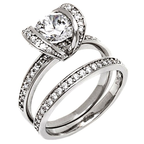 Bridal Sets 3 Pieces Mens and Womens, His & Hers, 925 ...