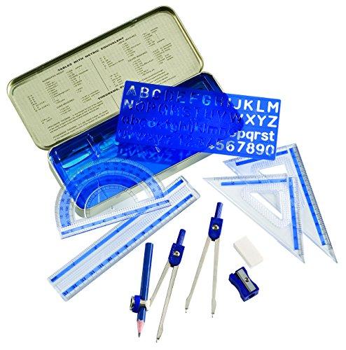 Alvin MS10 10-Piece Mathematical Instrument Set