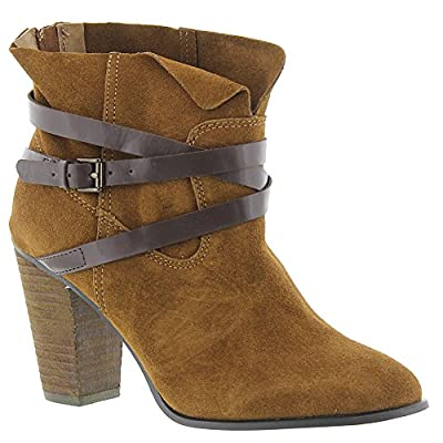 Carlos by Carlos Santana Miles Ankle Boots, Bourbon, 6 US / 36 EU