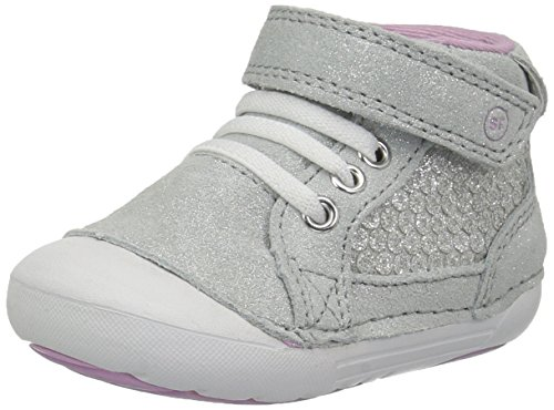 Stride Rite Girls' Soft Motion Jada Ankle Boot, Silver/Metallic, 6 Medium US Toddler