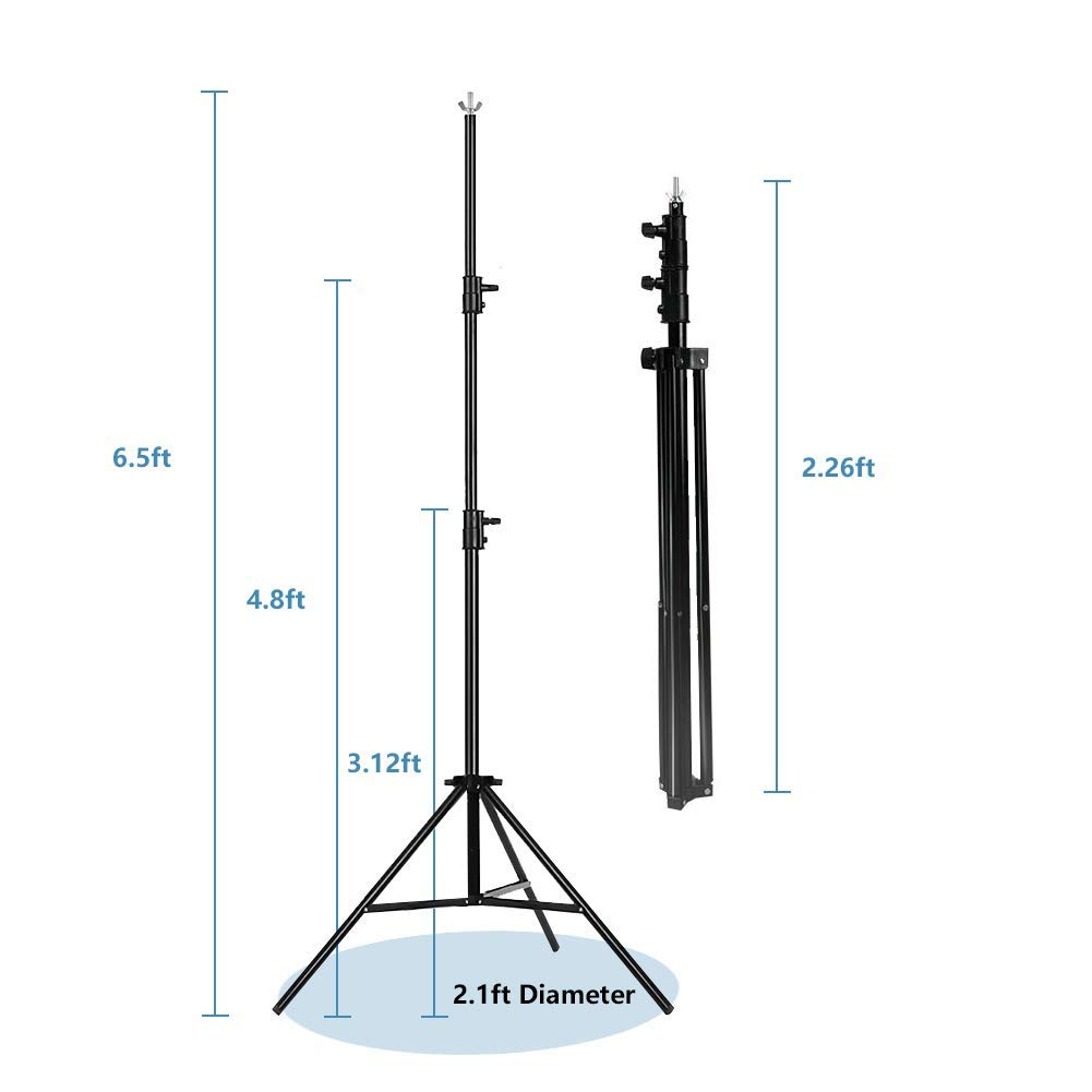 MOUNTDOG 6.5ftx10ft / 2M x3M Backdrop Support Stand Adjustable Photography Studio Background Support System Kit with Carrying Bag for Photo Video Shooting by MOUNTDOG (Image #6)