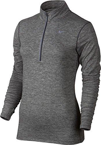 Nike Womens Dri-FIT? Element Half Zip Dark Grey/Heather/Reflective Silver (Small, Dark Grey)