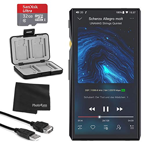 FiiO M11 Pro Portable High-Resolution Lossless Wireless Music Player + Memory Card Hardcase + SanDisk Ultra 64GB microSDXC Card w/Adapter