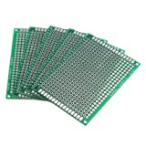 SODIAL(R) 5Pcs Double Side 5x7cm Printed Circuit PCB Vero Prototyping Track Strip Board
