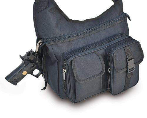 Explorer Tactical Concealed Carry Crossbody Shoulder Messenger Bag Black