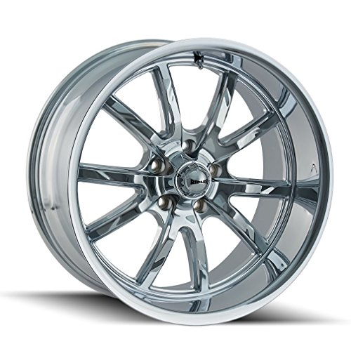 Ridler 650 Wheel with Chrome Finish (20 x 10. inches /5 x 120 mm, 0 mm Offset)