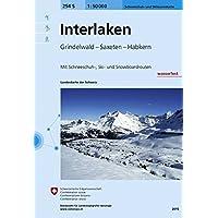 254S Interlaken Skitourenkarte 1:50 000, wasserfest: Grindelwald - Saxeten - Habkern (Skitourenkarten 1:50 000)