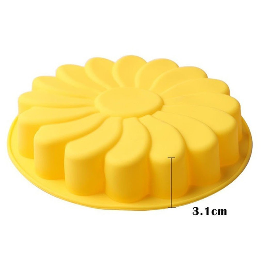 Albeey Silikon Backform Gelb Blumen Blumen Tortenform Kuchenform