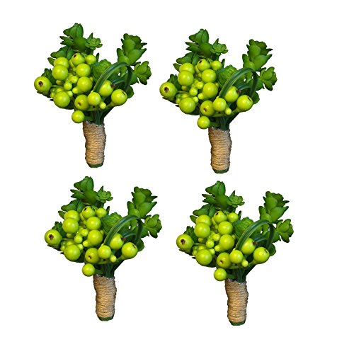 4pcs of Boutonniere-Boutonniere-Beautiful keep sake Succulents boutonniere