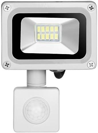 10w Foco led exterior Proyector con sensor de movimiento,Led ...