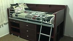 Amazon Com Rack Furniture Clairmont Loft Bed White
