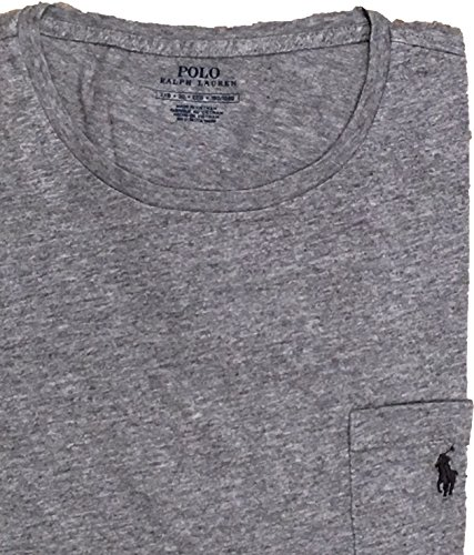 Polo Ralph Lauren Big and Tall Cotton Jersey Pocket T-Shirt (2X Big, Dark Vintage Grey) (T-shirt Lauren Pocket Ralph)