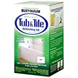 epoxy tub repair - Rust-Oleum 7860519 Tub And Tile Refinishing 2-Part Kit, White